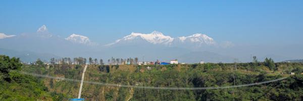 2018年11月ネパール【10〜11日目 ポカラでまったりと吊橋と洞窟探検】